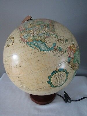 "Vintage Replogle Illuminated World Premiere Series 12"" Globe w/Wood Base"