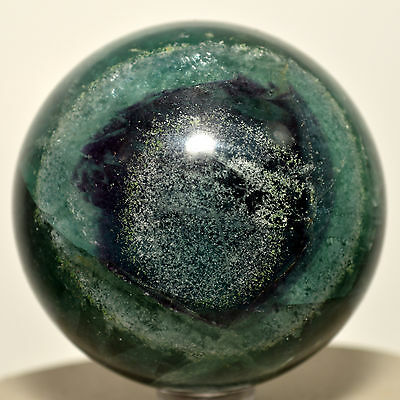 """2.3"""" Natural Blue / Green Fluorite Sphere Gemstone Crystal Mineral Ball - China"""