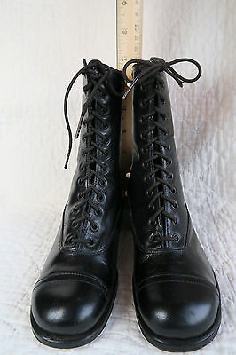 VINTAGE 1900s CHILDS   LEATHER  CAP TOE BOOTS - TIE UP Dead Stock  CUTE