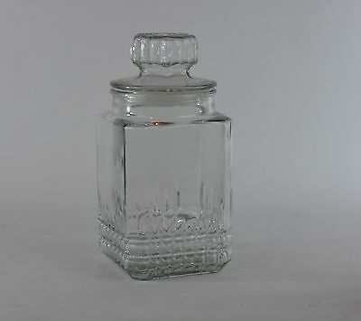Vintage Large Glass Heavy Candy Jar Design with Lid