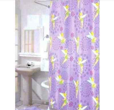 Canada Licensed Disney TINKERBELL Fabric Shower Curtain Set Tinker Bell NEW