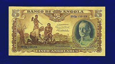 Angola  5 Angolares 1947 PIC77 Very Fine 139159