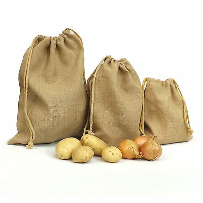 Jute Hessian Sacks, Pouches, Storage, Xmas, Gift, Garden, Craft, Burlap, Veg