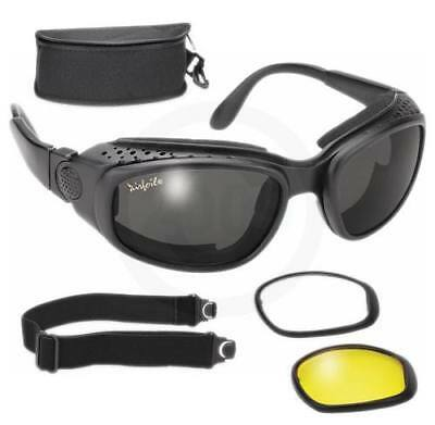 New Airfoil 9100 Googles Interchangable To Sunglasses Lens Padded Vented