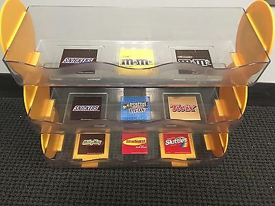 M&M Mars Retail Advertising Store Candy Bar Counter Display Shelf Unit Rack