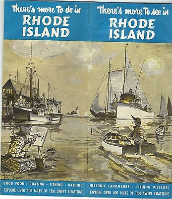 Vintage Travel Guide ~ There's More to see in Rhode Island ~ Recreation Bureau