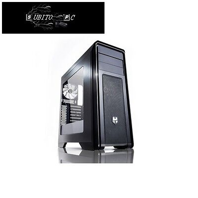 NOX Hummer ZX Case Middle Tower Full Black con finetra e USB 3.0 NXHUMMERZX