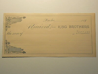 Quebec, Circa 1890, King Brothers Thetford – Mines Receipts #G80