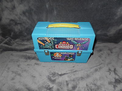 Vintage ATARI ALADDIN PLASTIC LUNCH BOX Missile Command ASTEROIDS Warlords 1983
