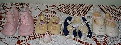 Vintage/Antique Baby Shoes Leather Fabric Mixed Lot Rare Find Great Condition