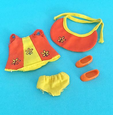 VINTAGE TUTTI Doll Plantin Posies Outfit w/ Dress Hat Shoes & Panties #3609