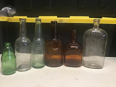 Set of ANTIQUE and VINTAGE bottles (6 bottles)