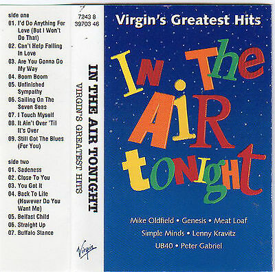 VIRGIN'S GREATEST HITS In The Air Tonight MC Tape MUSIKKASSETTE V/A Genesis UB40