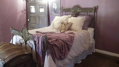 Antique Cast Iron Bed from Paris