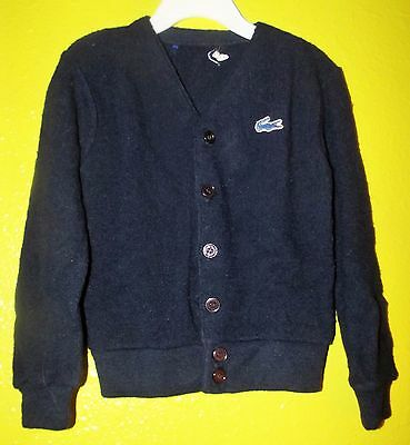 Vintage RARE Toddler Navy Blue IZOD LACOSTE Cardigan Sweater 3T 4T Alligator