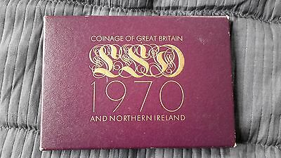 1970 Royal Mint Coinage Of Great Britain & Nothern Ireland Proof Set