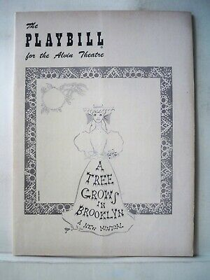 A TREE GROWS IN BROOKLYN Playbill SHIRLEY BOOTH / JOHNNY JOHNSTON NYC 1951