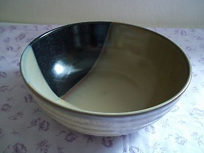 Sango GOLD DUST BLACK Round Vegetable Bowl 4244898 Great Condition
