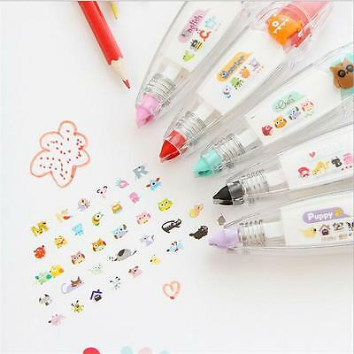 New!! Push Correction Tape Pen Decoration Stationery Student Craft Gifts FI