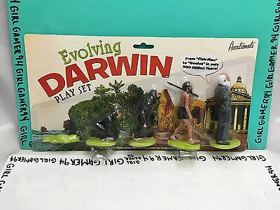 Evolving Darwin Play Set by Accoutrements - New - Sealed! Life Evolution Figures