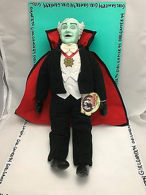 """Grandpa Munster Toy Works 15"""" Dracula Plush Doll - The Munsters Collectible"""