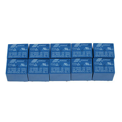 10pcs RELAY SRD-05VDC-SL-C PCB Type SONGLE 5V Mini Power Relay SRD-5VDC-SL-C