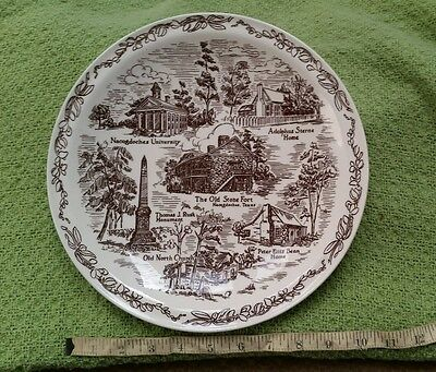 Nacogdoches First Christian Church commissioned Plate Vernon Kilns Vintage Brown