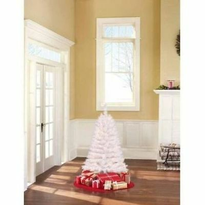 4 Ft. Pre-Lit Clear White Artificial Christmas Tree Lights Light 48 inch
