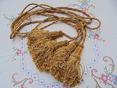 French a pair of rope tassel tiebacks yellow gold exquisite interior finishing