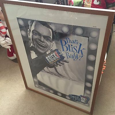 "Frank Sinatra "" That,s Brisk Baby"" Character  LIPTON TEA Framed '96 1 of a kind"