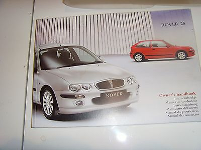 Rover 25 / Mg Drivers Handbook / Service History Book  Genuine Mg Rover