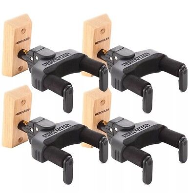 CLEARANCE SALES-FREEP&P. GSP38WB X 4 Pack Wall Mounted Guitar Hanger AutoGrab