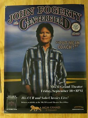 Rare JOHN FOGERTY CENTERFIELD 25 Years Concert MGM GRAND Plastic Display Poster