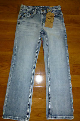 Flypaper Slim Boot Adjustable Waist Boys Jeans 8 - 18 NEW Lt Wash Button Flap