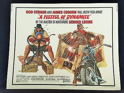 Original 1972 A FISTFUL OF DYNAMITE Half Sheet Movie Poster 22 x 28 ROD STEIGER