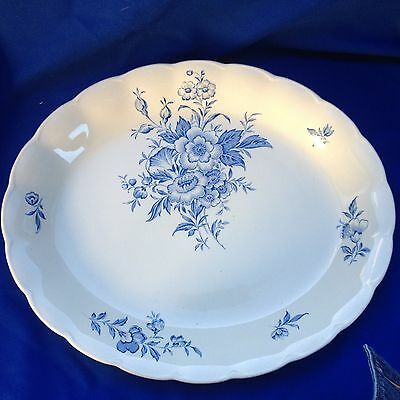 "Extra Large Platter - Blue Flowers Grindley ""Eileen"" (478)"