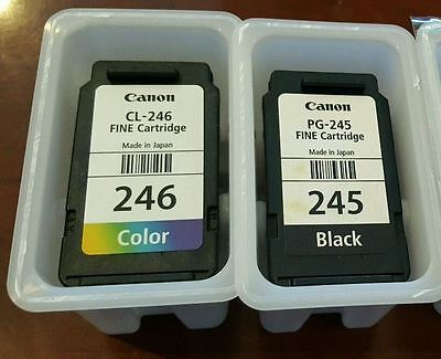 Lot of 2 CANON PG-245 Black & CL-246 Color Ink Cartridges !!! EMPTY !!!