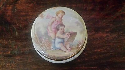 Antique German Porcelain Trinket Box