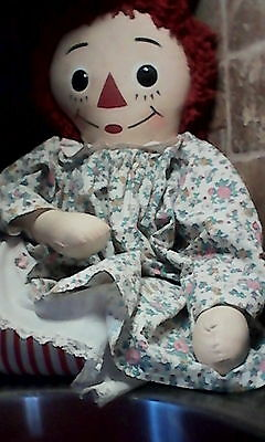 Early 70's Vintage Large Huge Jumbo Giant Knickerbocker Raggedy Ann 32""
