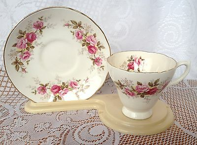 H & M Sutherland Pink & Red Roses Tea Cup & Saucer  (525)