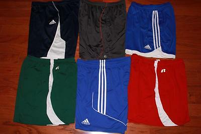 Lot 6 Pairs Adult Mens Adidas Soccer Shorts Running Practice Gym Layer 8 Large