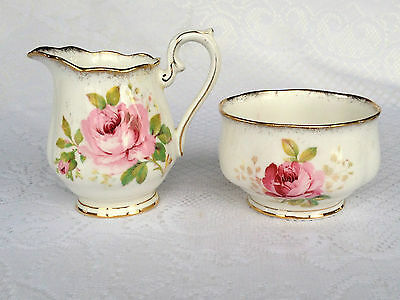 Royal Albert 'American Beauty' Open Sugar & Creamer (499)