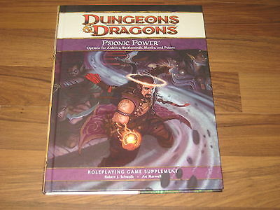 D&D 4th Edition Psionic Power Supplement HC WotC 2010 Neu New