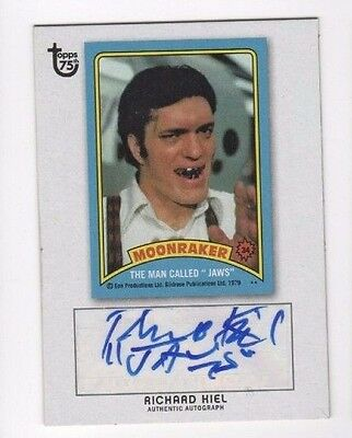 2013 Topps 75th Anniversary auto autograph Richard Kiel JAMES BOND MOONRAKER