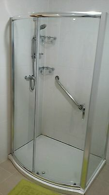 aqualux bow shower enclosure 1200mm x 800mm