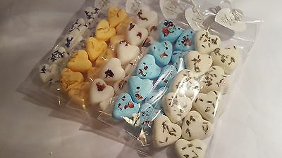 MINI Pack of 10 x mini heart shaped bath bombs - mixed flavours UK made new