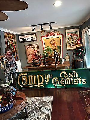 ANTIQUE  Original CHEMIST PHARMACY / DRUG STORE TRADE SIGN