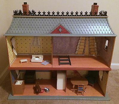 Madeline's Old House In Paris Dollhouse Furniture Genevieve Dog RARE HTF