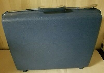 Vintage Samsonite Luggage Hard Plastic Blue