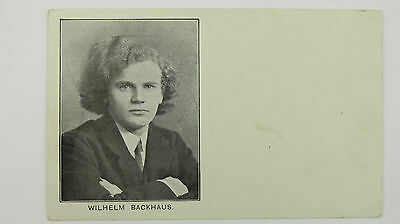 1900s Vintage Advert Postcard Wilhelm Backhaus Piano Recital Queens Hall London